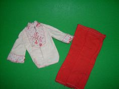 Mod Ken Clothes Outfit 7226 White Hippie Style Shirt Red Pants 1975 Fashion | eBay