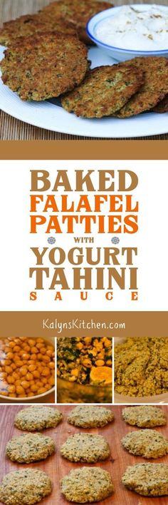 A reader sent me this recipe for Baked Falafel Patties with a delicious Yogurt-Tahini Sauce, and I have made them for years. I love this homemade falafel that starts with soaked raw chickpeas; if you like Falafel this is a must try recipe!  [found on KalynsKitchen.com.]