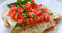 proino diaitis: aspradia me ntomata kai motsarela Bruschetta, Free Food, Bacon, Brunch, Health Fitness, Low Carb, Mexican, Diet, Ethnic Recipes