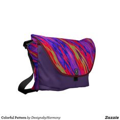 Colorful Pattern Courier Bag