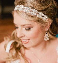 Nuptiale bandeau serre-tête bandeau strass mariages par Luciabella1