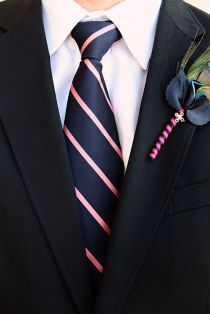 Navy pink striped tie                                                                                                                                                     More