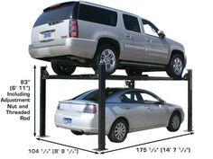XH-PRO8000-92 Four Post Lift, Metal Working Tools, Garage, Carport Garage, Garages, Car Garage, Carriage House