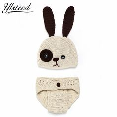 bbf0893e7bf Click to Buy    Baby costume photography props crochet hats shorts set big