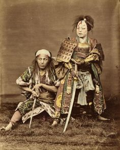 Japanese women trained in martial arts and combat. They commonly fought alongside the Samurai. Ronin Samurai, Female Samurai, Samurai Armor, Japanese History, Asian History, Japanese Culture, Tattoo Guerreiro, Tattoo Samurai, Bushido