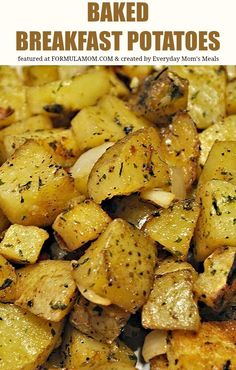 Try these easy and tasty Bake Breakfast Potatoes for your next brunch or family breakfast! It's a great easy breakfast recipe!