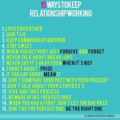 Not a bad list. What do you think is missing? (Besides intimacy, cuddling and sex!)