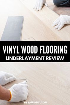 With any flooring change, you need to pick the best underlayment material and with tons of choices, we've got you covered! We share the best flooring materials to use with all types of vinyl wood flooring and feature how to use each one. This complete vinyl flooring review will help you make the best choices for your next flooring DIY project for your home. Best Flooring, Types Of Flooring, Vinyl Wood Flooring, Floating Floor, Room For Improvement, Affordable Home Decor, Woodworking Projects Diy, Engineered Hardwood, Cool Diy Projects