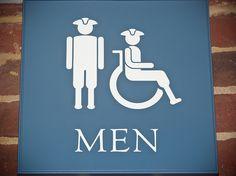 restroom sign; Colonial Williamsburg