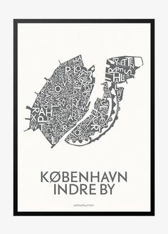listing monumental kort over kobenhavn indre by
