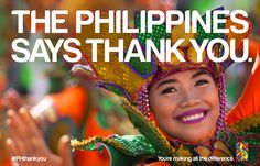 """In a show of appreciation, on February 8, the Philippines will launch a global """"Thank You"""" campaign around the world to express its gratitude for the outpouring of support following the devastating effects of Typhoon Haiyan which hit three months ago. Using eye-catching images like this, and through social media, the Philippines encourages everyone to use the hashtag #PHthankyou to continue sharing their support and appreciation. (Photo: Business Wire)"""