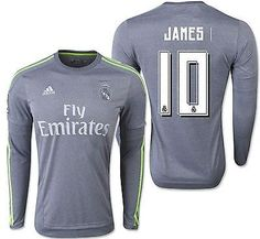 b0297df32 Adidas james rodriguez real madrid long sleeve away jersey 2015 16