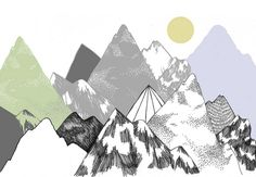 illustrations of mountains