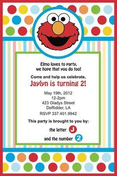Elmo Birthday Invitation By YellowDeskDesigns On Etsy 1500 Invitations Invites Second