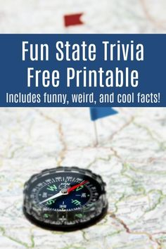 Get this fun state trivia road trip game and take the fun and learning on the road. 50 facts about the United States - weird, fun, and interesting, the kids love this set! Road Trip With Kids, Travel With Kids, Family Travel, Facts For Kids, Fun Facts, Trivia Questions For Kids, Road Trip Games, Road Trips, Travel Activities