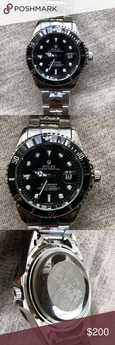 """New Rolex Submariner Mens Watch Brand New Rolex Submariner Men's Watch  BRAND NEW GREAT RE.PL. ICA ❌❌NOT. REAL. ROLEX.❌❌  Quartz Movement   No returns unless damaged on arrival   """"Founded in London by Hans Wilsdorf in 1905, Rolex set out to create the most accurate and reliable wristwatches in the world. Using small and very precise movements from Bienne, Switzerland, Rolex began its journey to convince the public of the reliability of resolutely innovative timepieces.""""  Same day shipping…"""