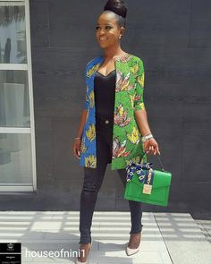 "@Regrann from @houseofnini1 - Our CEO Rocking our New collection ""Nini's Stoned Ankara Kimono"" She rocks....Queen of African Fabric (QAF) All sizes available on order Whatsapp 09080555598 or send a DM to place orders Prints available in different colours Lovely Bag from @tidemmajewels #houseofnini #nini #Ninisankarakimono #africanqueen #african - #regrann"
