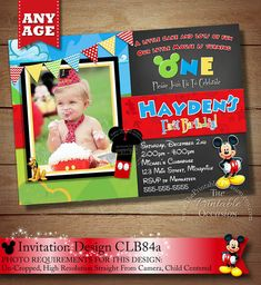 HUGE SELECTION Clubhouse Mickey Birthday Invitation, Mickey Mouse Invitation, Mickey Mouse Clubhouse, Toodles Invitations, Mickey Printables on Etsy, $20.00