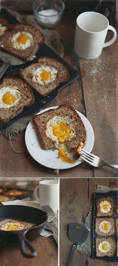 HoBo eggs, baked for a healthier option or fried in some salted butter...comfort food