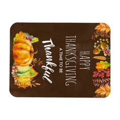 Shop Happy Thanksgiving Pumpkins and Autumn Foliage Magnet created by Mirribug. Happy Thanksgiving, Watercolor Illustration, Acorn, Autumn Leaves, Pumpkins, Magnets, Berries, Create Yourself, Stuffed Mushrooms