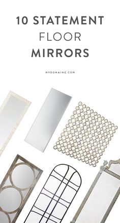 You're going to love these floor mirrors