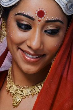 Portrait of a Bengali bride