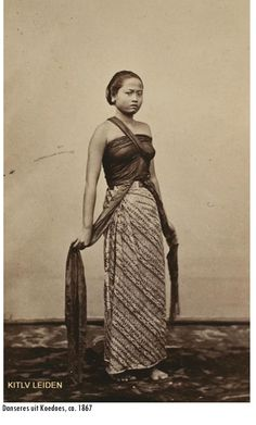 Indonesia ~ Dancer from Koedoes, Java ~ 1867