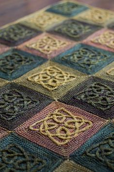 This is the first pattern in Illuminated Knits, a mini-collection of designs inspired by the colourful decorations found in Celtic mansucripts such as The Book of Kells. Cable Knitting, Knitting Stitches, Knitting Designs, Free Knitting, Crochet Squares, Crochet Blanket Patterns, Knitting Patterns, Yarn Projects, Knitting Projects