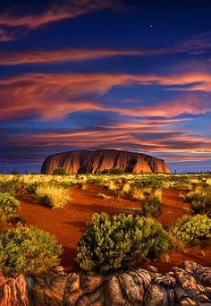 Uluru at sunset, N.T. Getty Images.