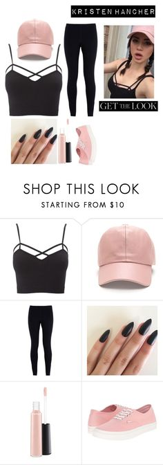 """""""Kristen Hancher"""" by sarah-muth ❤ liked on Polyvore featuring Charlotte Russe, NIKE, MAC Cosmetics, Vans, kristenhancher and plus size clothing"""