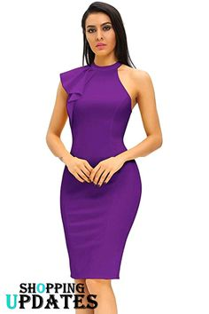 Looking for Women's Fashion Ruffle One Shoulder Sleeveless Midi Bodycon Cocktail Party Dress ? Check out our picks for the Women's Fashion Ruffle One Shoulder Sleeveless Midi Bodycon Cocktail Party Dress from the popular stores - all in one. Classy Dress, Classy Outfits, Chic Outfits, Fashion Outfits, Dress Fashion, Women's Fashion, Fashion Videos, Party Fashion, Short African Dresses