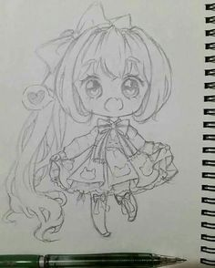 Really like the folds in this Drawing Cartoon Faces, Anime Drawings Sketches, Dark Art Drawings, Anime Sketch, Manga Drawing, Cartoon Art, Manga Art, Cute Drawings, Kawaii Chibi