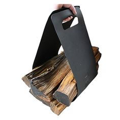 Jumbo Fireplace Firewood Fire Wood Log Canvas Caddy Tote Carrier Holder Tan NEW