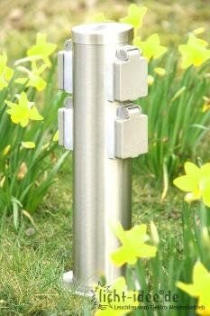 Steckdosensäule 4-fach Steckdose Edelstahl Gartensteckdose durchschleifbar mit Kinderschutz Licht-Idee http://www.amazon.de/dp/B00JXFU0D0/ref=cm_sw_r_pi_dp_gxolvb0NC0YQT