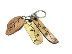 You Can Always Turn Over A New Leaf Inspirational Key Chain