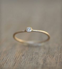 Stackable 14k Ring With Moissanite |
