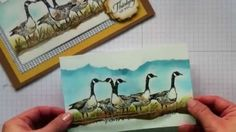 Mirror image and sponging cardmaking Techniques  / Wetlands Stamp set by...