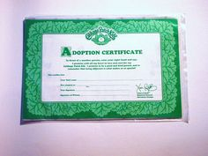 printable cabbage patch birth certificate | Recent Photos The Commons Getty Collection Galleries World Map App ...