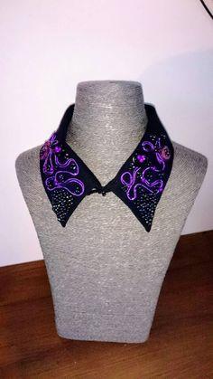 Retrouvez cet article dans ma boutique Etsy https://www.etsy.com/fr/listing/516249941/col-de-chemise-noir-violet