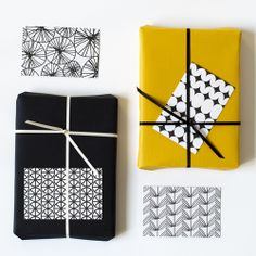 patterned gift tags, black, jessica nielsen