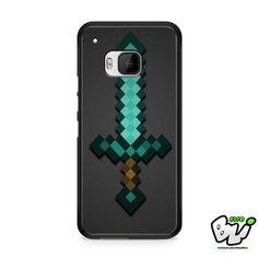 Minecraft Green Mint Sword HTC One M9 Case