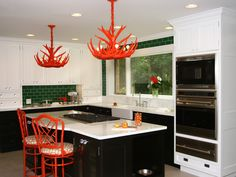 Colored Antler Chandelier!! I want one of these! I always thought of black but I love the colored ones too!