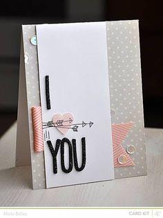 I Heart You Card {Studio Calico February Kit}