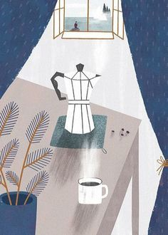 Items similar to / print. wherever you will be // print for home. print for dining room. print for kitchen. print for workplace on Etsy Coffee Illustration, Graphic Design Illustration, Illustration Art, Photo Macro, Gravure Illustration, Coffee Art, Coffee Meme, Coffee Poster, Coffee Cozy