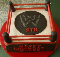 Wwe Wrestling Ring Cake Belts Pretty Birthday Cakes
