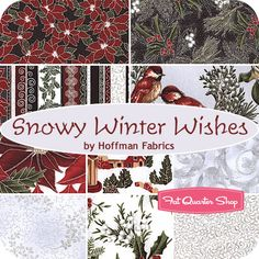 Snowy Winter Wishes Fat Quarter Bundle Hoffman Fabrics - Fat Quarter Shop - 10 fat quarters, $29.99 available now