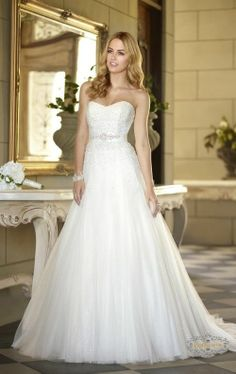 2014 New Style Custom Size A-Line Bead Tulle Princess Wedding Dress Bridal Gown