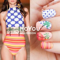 """1,578 Likes, 11 Comments - MoYou-London Official (@moyou_london) on Instagram: """"❀✿❀ On Trend Nail Art ❀✿❀ Think tropical this summer with nails inspired by the lush Spring/Summer…"""""""