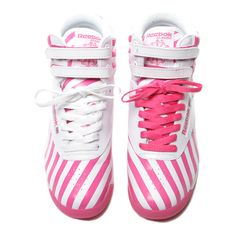 ❤ liked on Polyvore featuring shoes, sneakers, pink, pink shoes and pink sneakers