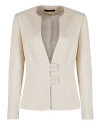 Tailored Wool Crepe Jacket (MA1037) - Myles Anthony